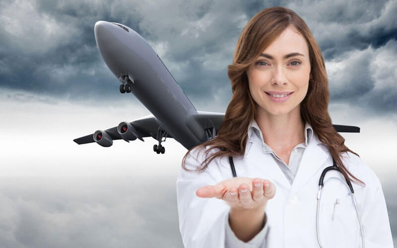 We offer worldwide airline medical support. The nurse will monitor the patient's medical status until the patient arrives at the assigned destination.